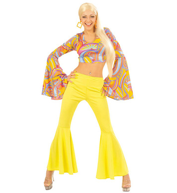 70s FUNKY LADY 2 PIECE COSTUME - L (top pants)