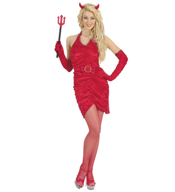DEVIL LADY SHORT (dress belt gloves horns)