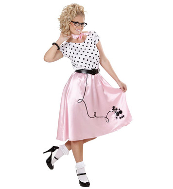 50s POODLE GIRL (dress belt neckerchief)