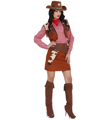 COWGIRL (shirt vest skirt belt bandana boot covers)