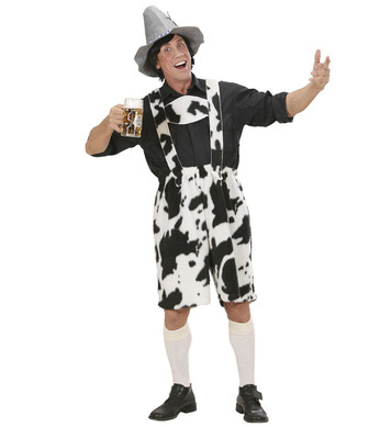 PLUSH COW LEDERHOSEN