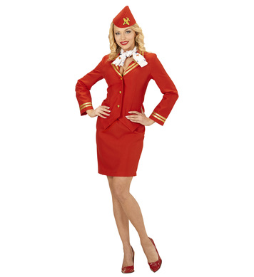 FLIGHT ATTENDANT (jacket skirt scarf sidecap)