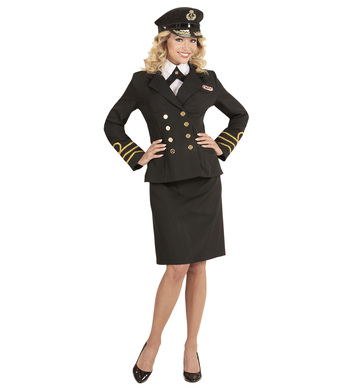 NAVY OFFICER (jacket shirt collar skirt hat)