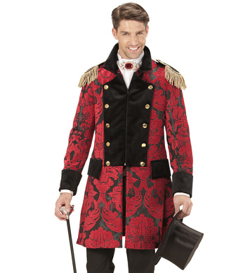 RED JACQUARD PARADE COAT