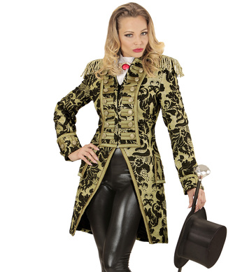 GOLD JACQUARD PARADE LADIES TAILCOAT