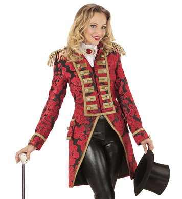 RED JACQUARD PARADE LADIES TAILCOAT