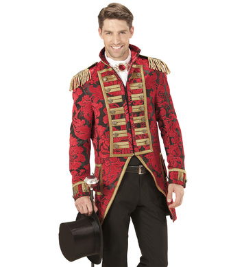 RED JACQUARD PARADE TAILCOAT
