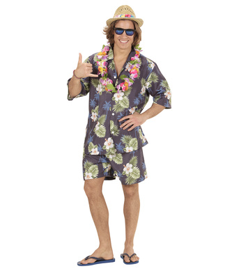 HAWAIIAN shirt, shorts