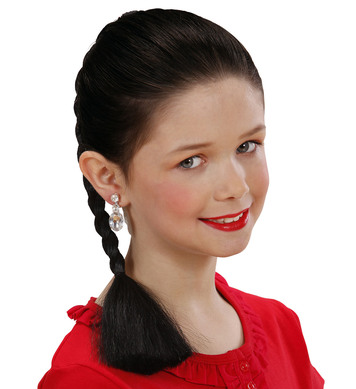 HAIR EXTENSION PLAIT - CHILD SIZE - BLACK