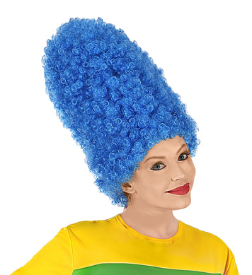 CARTOON WIG BLUE IN POLYBAG