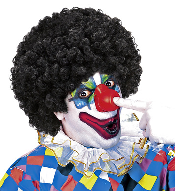 CURLY CLOWN WIG - BLACK