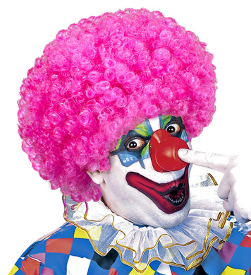CURLY CLOWN WIG - PINK