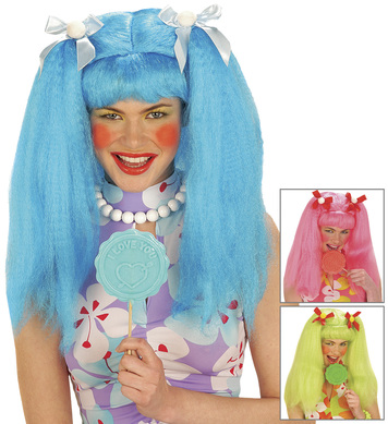 DOLLY WIG BLUE/PINK/GREEN