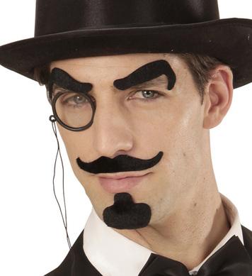 GENTLEMAN (eyebrows, moustache, goatee, monocle)