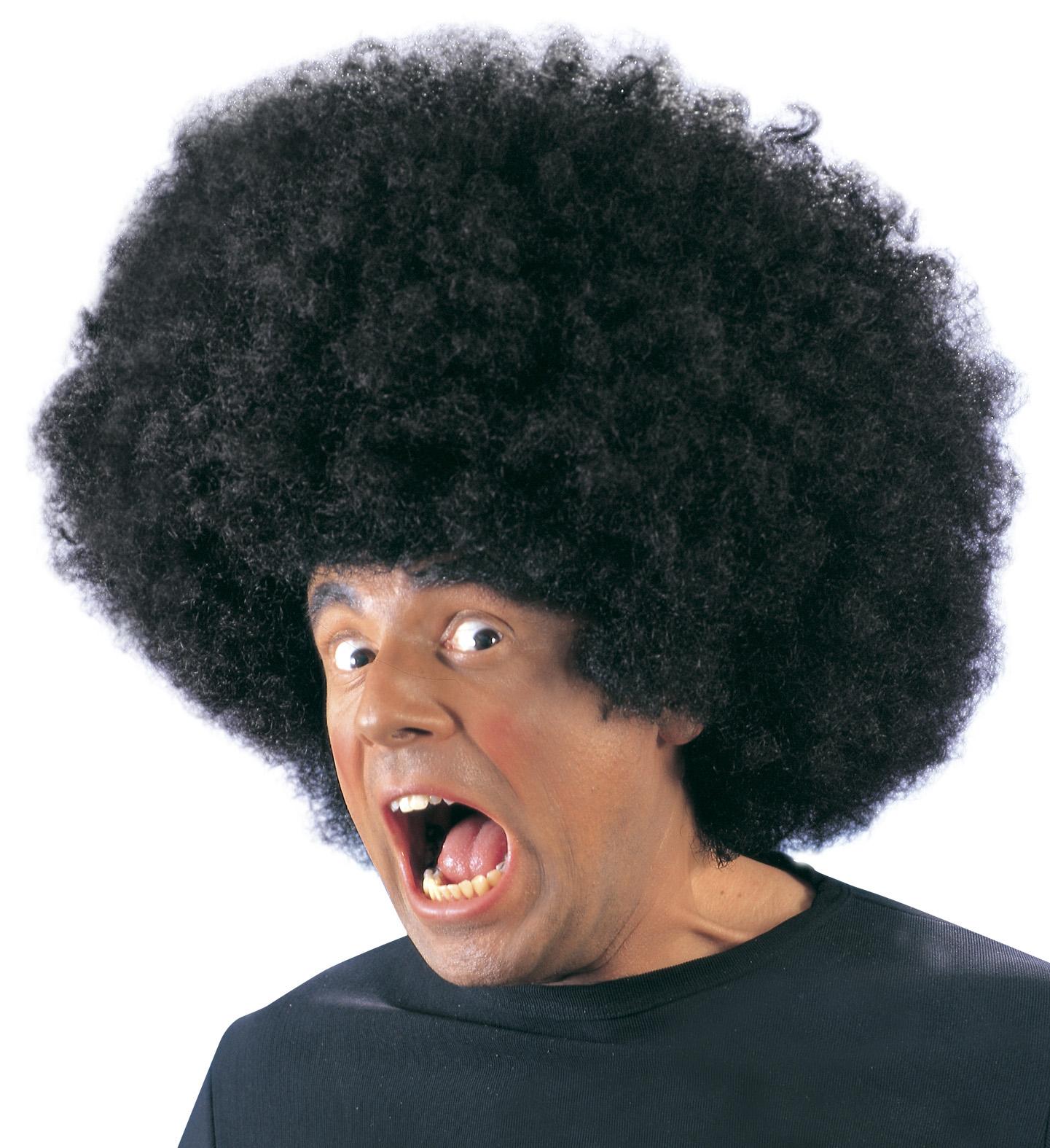 Jimmy Wig Oversized Black 70s Fancy Dress