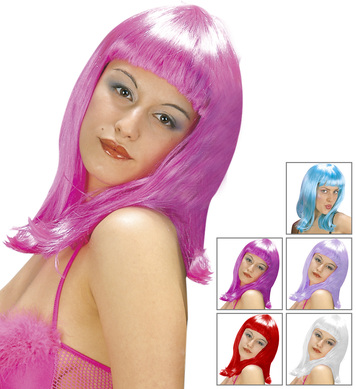 PATSY WIG (lilac/purple/pink/blue/white/red)