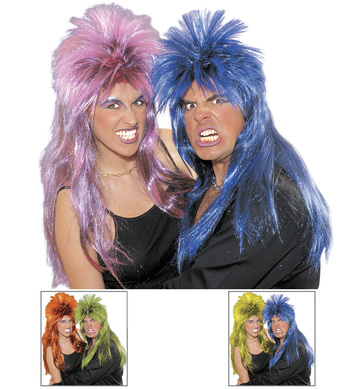 HARD ROCK WIG IN BAG  (pink/blue/grn/yell/orange)