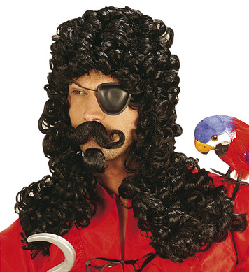 CAPTAIN WIG BLACK W/ MOUSTACHE & GOATEE