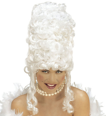 EXTRA TALL GOTHIC WIG in polybag - WHITE