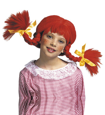 NAUGHTY GIRL WIG W/BENDABLE PLAITS - CHILD SIZE
