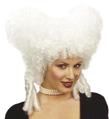BAROQUE NOBLEWOMAN WIG WHITE