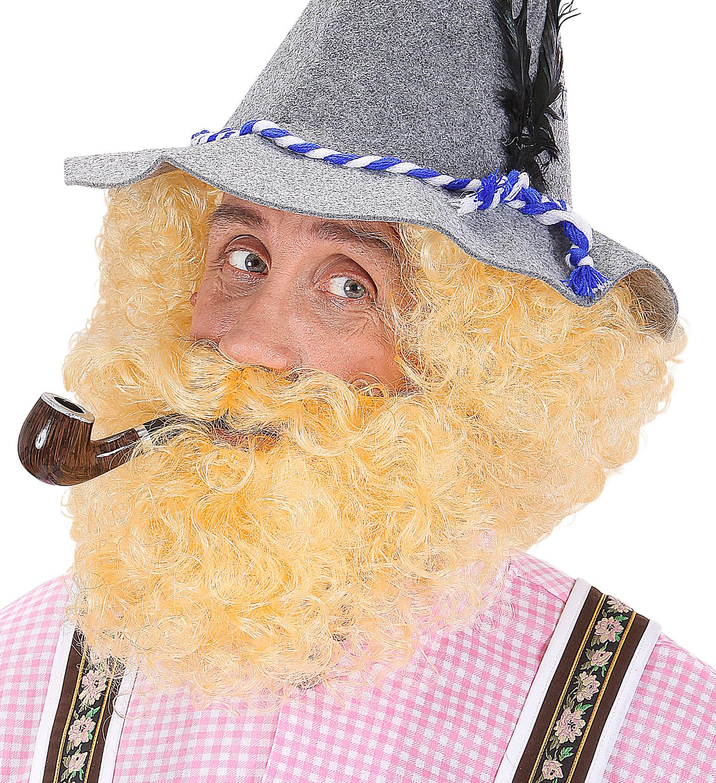 Character Curly Wig & Beard Fancy Dress
