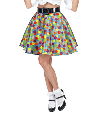 MULTICOLOR POLKA DOTS SKIRT WITH PETTICOAT (1Size) Adults