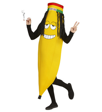 RASTAFARIAN BANANA COSTUME (1Size) Adults