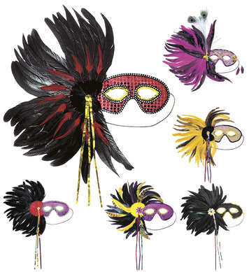 FEATHER EYEMASK SUPER DELUXE - 6 styles