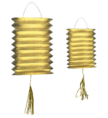LANTERNS GOLD METALLIC 25cm