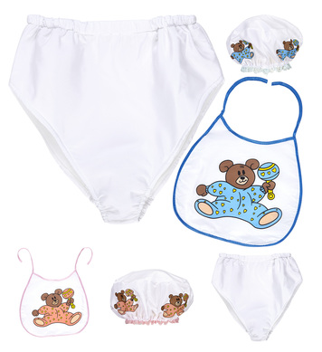 BABY DRESS UP SET (bonnet, bib, giant diaper)