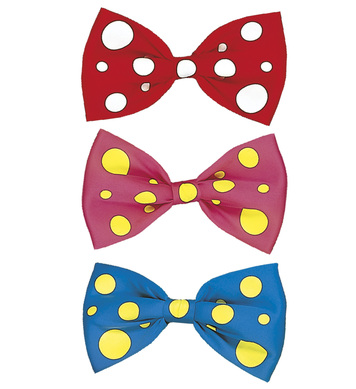 MAXI BOW TIE - pink/red/blue