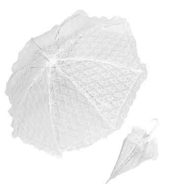 PARASOL LACE 83cm  WHITE