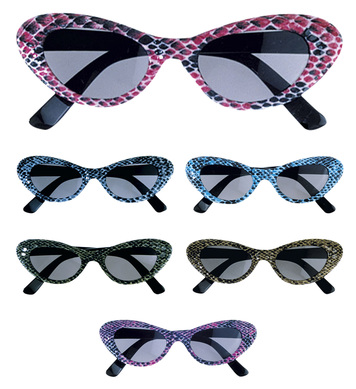 CAT EYE PYTHON GLASSES