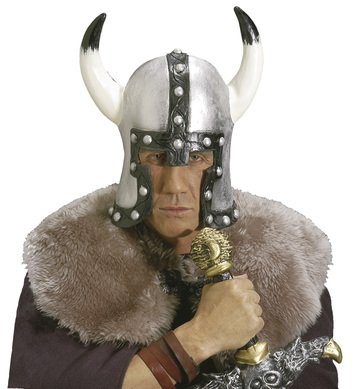 BARBARIAN HELMET SILVER LATEX