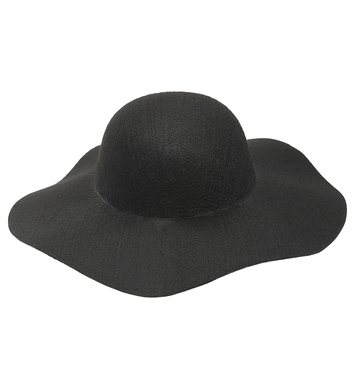 FELT BLACK WOMAN HAT suitable for customization