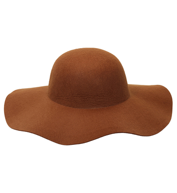 FELT BROWN WOMAN HAT suitable for customization