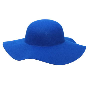 FELT BLUE WOMAN HAT suitable for customization
