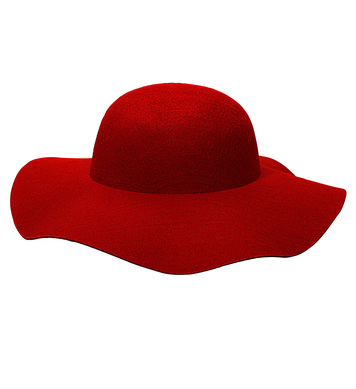 FELT RED WOMAN HAT suitable for customization