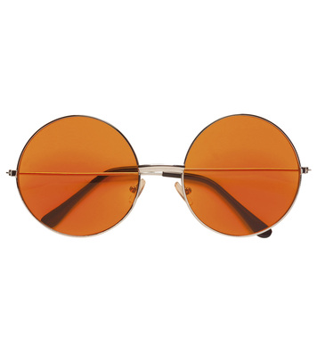70s GLASSES WITH ORANGE LENSES