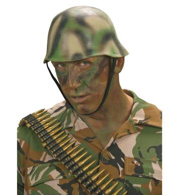CAMOUFLAGE SOLDIER HELMET