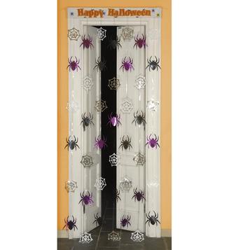 DOOR CURTAIN SPIDERWEB/SPIDERS  90X200cm