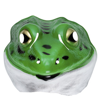 PLASTIC MASK - CHILD SIZE - FROG