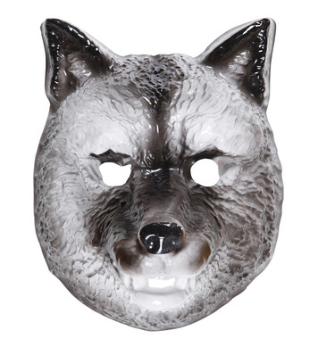 PLASTIC MASK - CHILD SIZE - WOLF