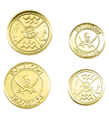 SET OF 12 GOLD DOUBLOONS