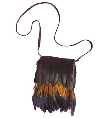 FEATHERED INDIAN HANDBAG