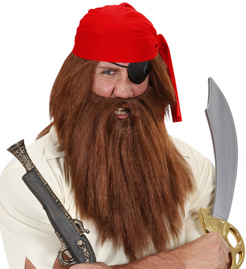 BROWN CAVEMAN - PIRATE WIG W/BEARD