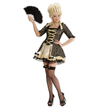 BLACK BAROQUE QUEEN (dress petticoat fishnet thigh highs
