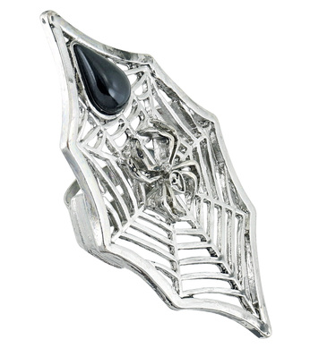 GOTHIC SPIDER & SPIDERWEB RING