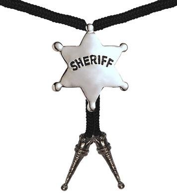 COWBOY SHERIFF STRING TIE